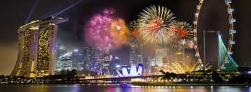 Singapore Fireworks Facebook Cover