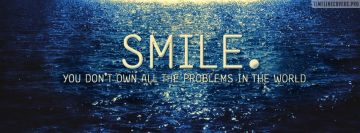Smile Quote Facebook cover photo