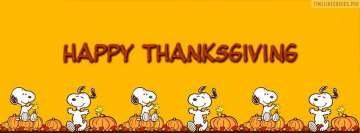 Snoopy Happy Thanksgiving Facebook Background TimeLine Cover