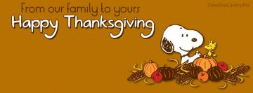 Snoopy Woodstock Thanksgiving Facebook cover photo
