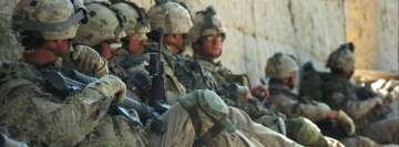 Soldiers Waiting for Orders Facebook Cover-ups