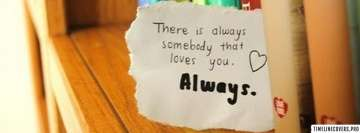 Somebody Always Loves You Facebook cover photo