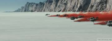 Speeders Flying on Crait in Star Wars The Last Jedi