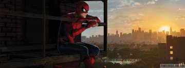 Spider Man Homecoming Having a Sandwich Facebook Banner