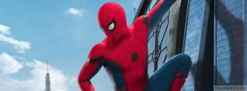 Spider Man Homecoming Looking Down Facebook Wall Image