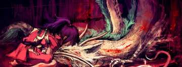 Spirited Away Girl and Her Dragon Facebook Background TimeLine Cover