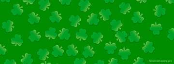 St Patricks Day Clover Pattern Facebook Cover Photo
