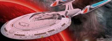 Star Trek Enterprise Spaceship Facebook Cover
