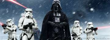 Star Wars Darth Vader with Stormtroopers Facebook Cover