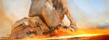 Star Wars Fall of an at at Walker Facebook Wall Image