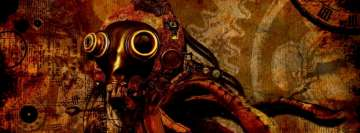 Steampunk Mask Art Facebook Banner