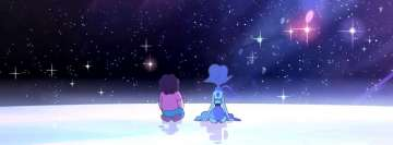 Steven Universe Steven and Lapis Lazuli Facebook Background TimeLine Cover
