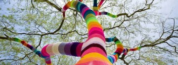 Street Art Yarn Crochet Facebook Cover