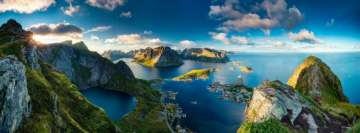 Sunny Island Coastline Norway Fjord Facebook Cover Photo