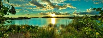 Sunny Lake Landscape Facebook Cover Photo