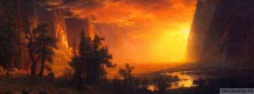 Sunset in The Yosemite Valley Facebook Banner