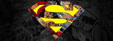 Superman Logo Comics Style Facebook Cover Photo