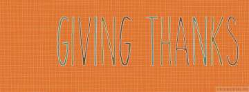 Thanksgiving Giving Thanks Facebook cover photo