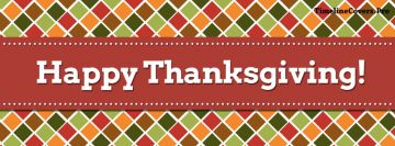 Thanksgiving Square Pattern Facebook Cover-ups