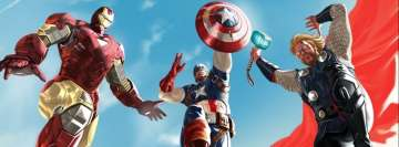 The Avengers Iron Man Captain America Thor Facebook Cover