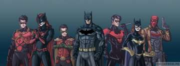 The Bat Family Batgirl Batman Nightwing Robin Facebook Cover