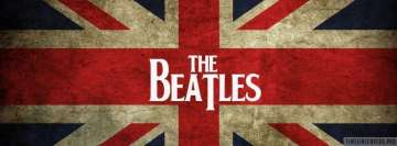 The Beatles on England Flag Facebook Cover