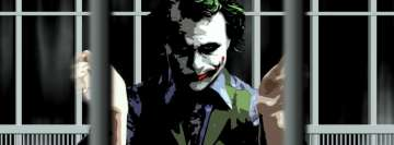 The Dark Knight Joker in Cells Facebook Cover-ups