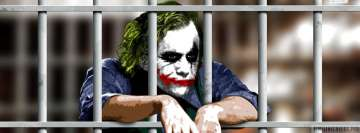The Dark Knight Joker in Jail Facebook Wall Image