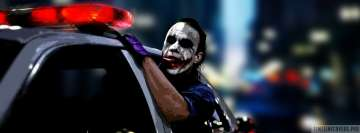 The Dark Knight Joker in Police Car Facebook Cover