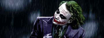 The Dark Knight Joker in Rain Facebook cover photo