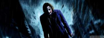 The Dark Knight Joker Standing in Rain Facebook Banner