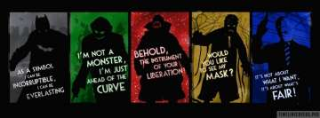 The Dark Knight Quotes Facebook cover photo