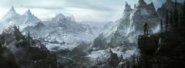 The Elder Scrolls V Skyrim Facebook Background