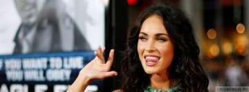 The Playful Megan Fox Facebook Wall Image