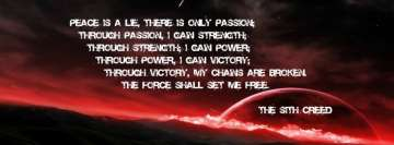 The Sith Creed Star Wars Quote Facebook Background TimeLine Cover