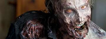 The Walking Dead Zombie Staring Facebook Cover Photo