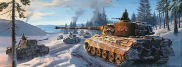Tiger 2 Tank Painting Facebook Banner
