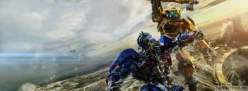 Transformers The Last Knight Optimus Prime vs Bumblebee Facebook Cover