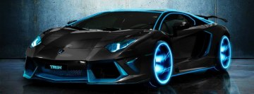 Tron Lamborghini Aventador Facebook Background