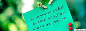 True Friends Quote Facebook Banner
