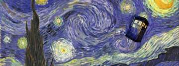 Van Gogh Tardis Wallpaper Doctor Who Starry Night Facebook Cover-ups