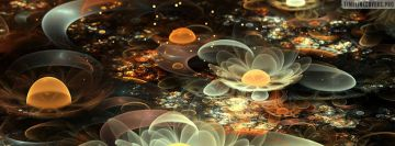 Venus Flowers Fractal Art Facebook cover photo