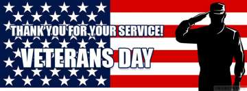 Veterans Day Thank You for Your Service Facebook Cover