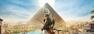 Video Game Assassins Creed Origins at The Pyramids