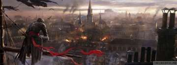 Video Game Assassins Creed Unity Cityscape Facebook Banner