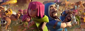 Video Game Clash of Clans Facebook Banner