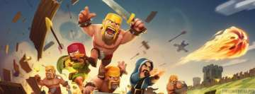 Video Game Clash of Clans Fight Facebook Cover