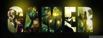 Video Game Collage Gamer Facebook Cover Photo
