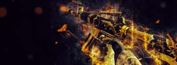 Video Game Counter Strike Global Offensive M4a1 S Golden Coil Facebook Cover