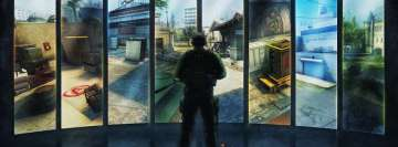 Video Game Counter Strike Global Offensive Maps on Screen Facebook Cover Photo